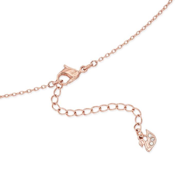 Swarovski Crystal Interlocking Rings Necklace in Gold Plate