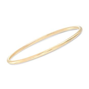 Italian 22kt Gold Over Sterling Jewelry Set: Four Polished Bangle Bracelets, , default
