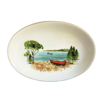 Abbiamo Tutto Italian a Day at the Lake Ceramic Oval Serving Platter, , default