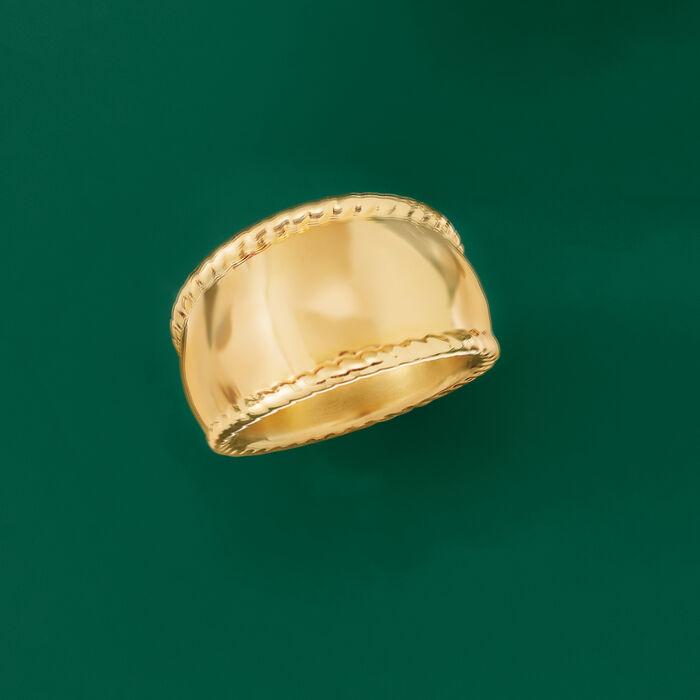 Italian Andiamo 14kt Yellow Gold Rope-Frame Ring