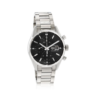 TAG Heuer Carrera Men's 41mm Chrono Day-Date Stainless Steel Watch, , default