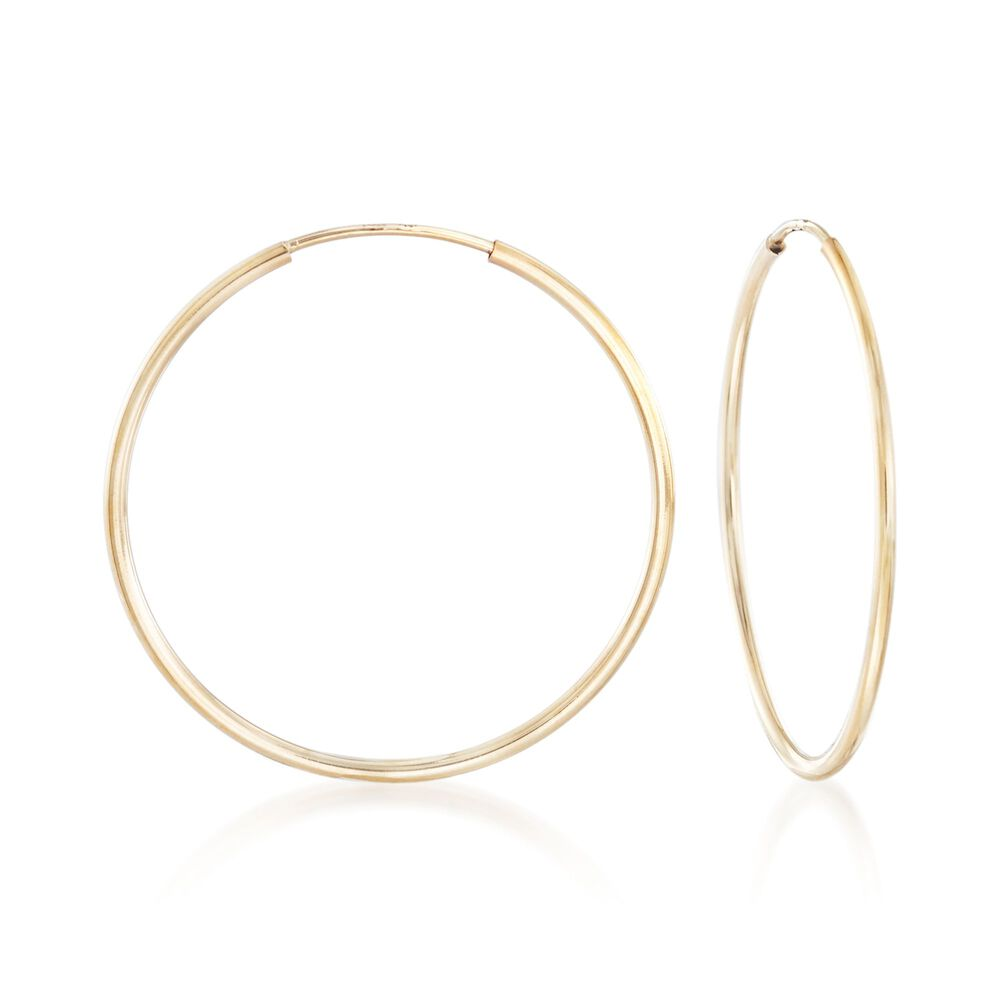 1 25mm 14kt Yellow Gold Endless Hoop Earrings 8