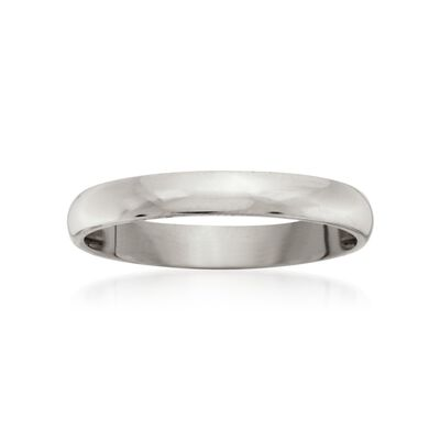Women's 3mm 14kt White Gold Wedding Ring, , default