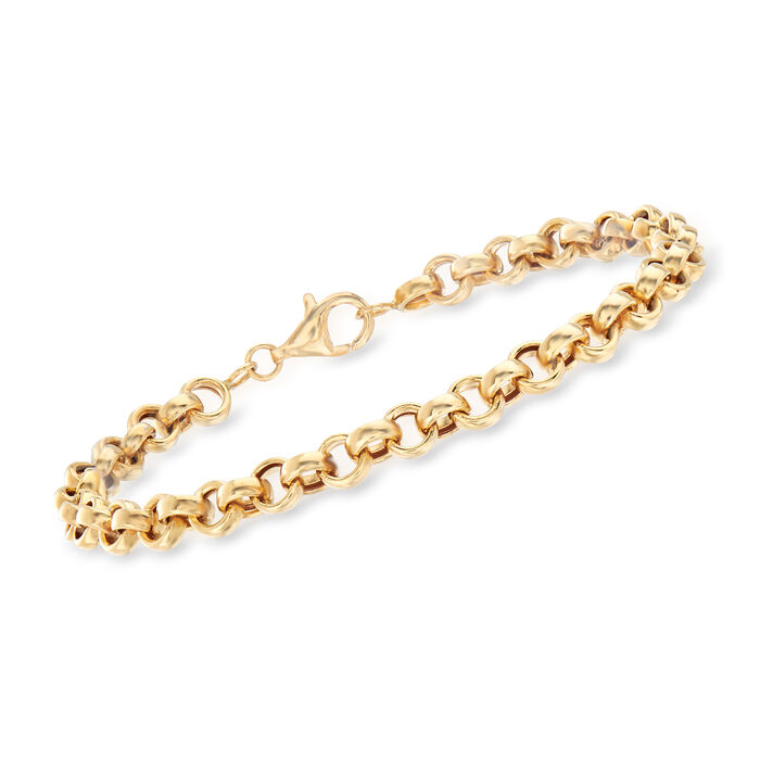 18kt Yellow Gold Rolo-Link Bracelet