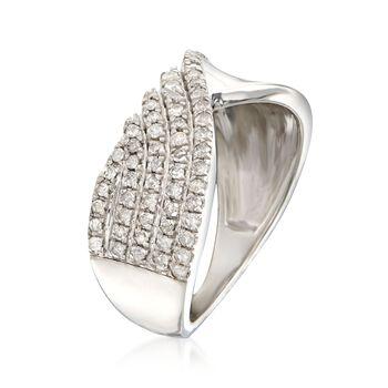 .50 ct. t.w. Diamond Half-Row Twist Ring in Sterling Silver, , default
