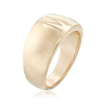 Italian 14kt Yellow Gold Single Initial Ring, , default