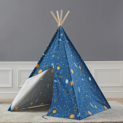 Child's Starry Sky Glow-In-The-Dark Teepee Tent