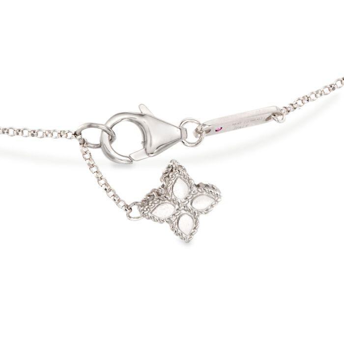 "Roberto Coin ""Princess"" .17 ct. t.w. Diamond Flower Bracelet in 18kt White Gold"