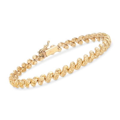 Italian 14kt Yellow Gold San Marco Bracelet, , default
