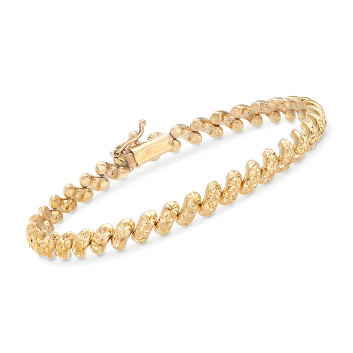 "Italian 14kt Yellow Gold San Marco Bracelet. 7"", , default"