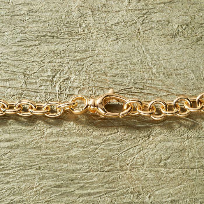 Italian Andiamo 14kt Yellow Gold Mixed Link Necklace