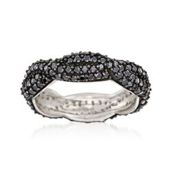 1.50 ct. t.w. Black Spinel Braided Eternity Band in Sterling Silver, , default