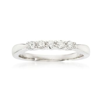 .25 ct. t.w. 5-Stone Diamond Wedding Ring in 14kt White Gold, , default