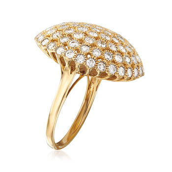 3.00 ct. t.w. Diamond Dome Ring in 14kt Yellow Gold, , default