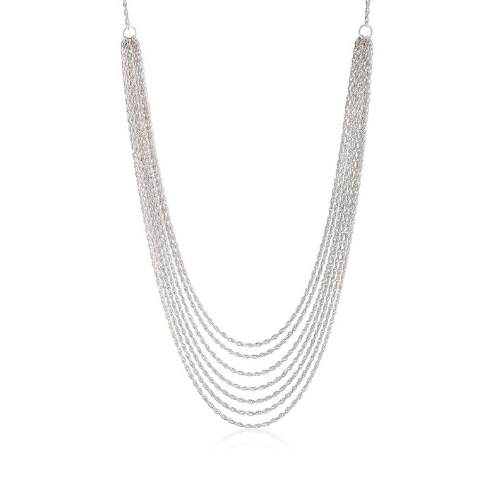 Sterling Silver Multi-Strand Rope Necklace