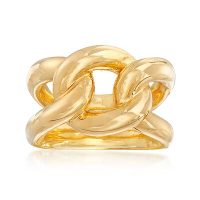 Italian Andiamo 14kt Yellow Gold Knot Ring, , default
