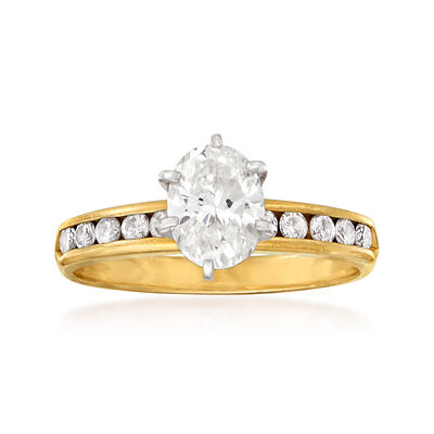 C. 1980 Vintage 1.25 ct. t.w. Diamond Ring in 14kt Yellow Gold, , default