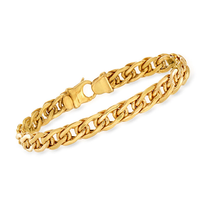 Italian 14kt Yellow Gold Flat-Link Bracelet