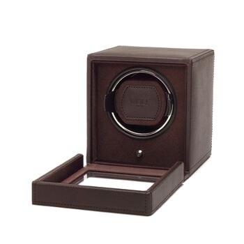 """Cub Winder"" Brown Single Watch Winder with Cover by Wolf Designs, , default"