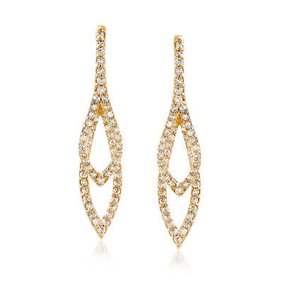 .50 ct. t.w. Diamond Double Front-Back Teardrop Earrings in 14kt Yellow Gold, , default