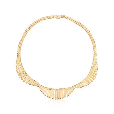 C. 1940 Vintage 18kt Yellow Gold Cleopatra Collar Necklace, , default
