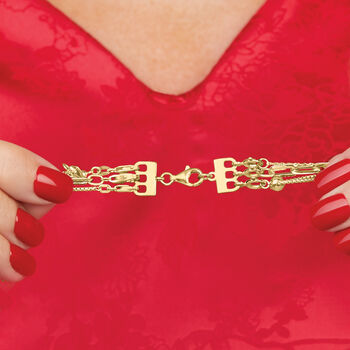 Italian 18kt Gold Over Sterling Layering Clasp