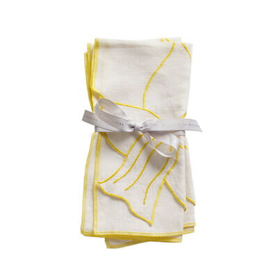 Joanna Buchanan Set of 2 Daffodil Linen Dinner Napkins, , default