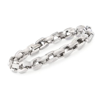 "Men's Stainless Steel Link Bracelet. 8.5"", , default"