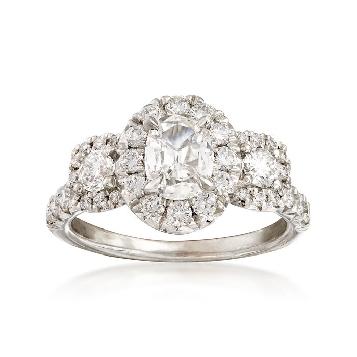 Henri Daussi 2.14 ct. t.w. Certified Diamond Engagement Ring in 18kt White Gold