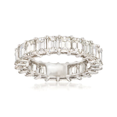 5.00 ct. t.w. Emerald-Cut Diamond Eternity Band in Platinum, , default