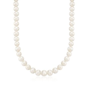 "8.5-9.5mm Cultured Pearl Necklace With Sterling Silver. 18"", , default"