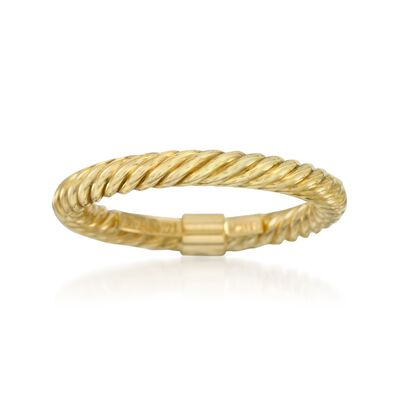 14kt Yellow Gold Stackable Twisted Ring, , default
