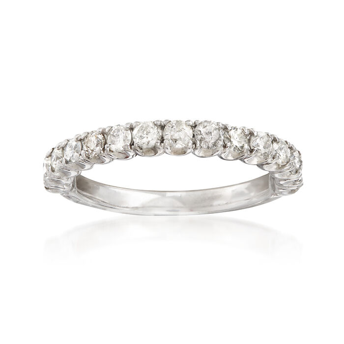 C. 1990 Vintage .75 ct. t.w. Diamond Wedding Band in 14kt White Gold. Size 6.25, , default