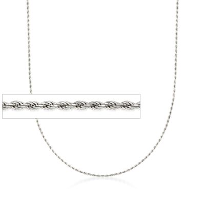 Italian 1.5mm Sterling Silver Adjustable Slider Rope Chain Necklace, , default