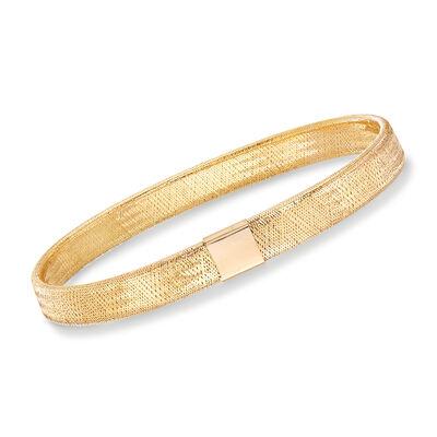 Italian Woven Mesh Bracelet in 14kt Yellow Gold, , default