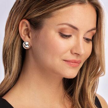Italian Sterling Silver Dome Earrings