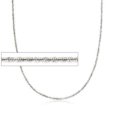 Italian Crisscross-Link Chain in Sterling Silver, , default