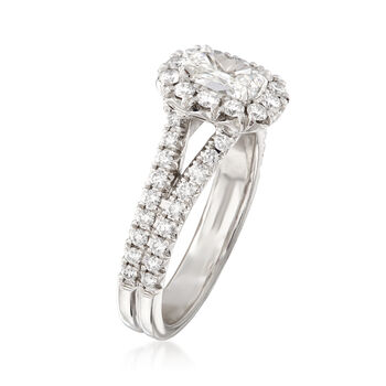 Henri Daussi 1.23 ct. t.w. Diamond Engagement Ring in 18kt White Gold