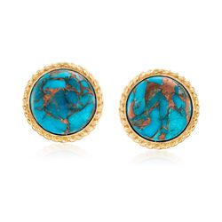Turquoise Earrings in 18kt Gold Over Sterling, , default