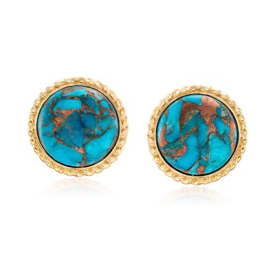 Turquoise Earrings in 18kt Gold Over Sterling , , default