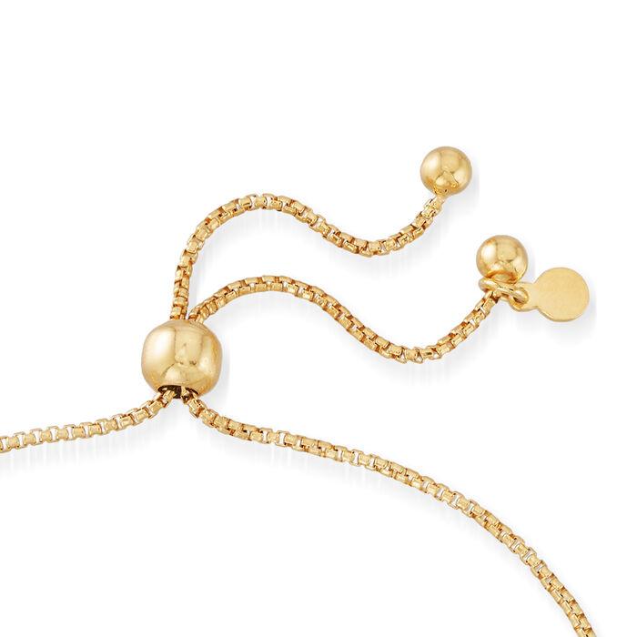 Italian 18kt Gold Over Sterling Heart Center Bolo Bracelet