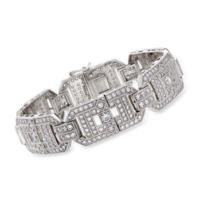 8.50 ct. t.w. CZ Link Bracelet in Sterling Silver