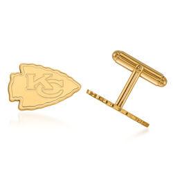 14kt Yellow Gold NFL Kansas City Chiefs Cuff Links, , default