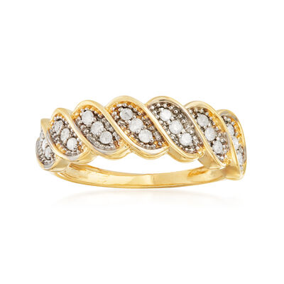 .25 ct. t.w. Diamond Twist Ring in 14kt Yellow Gold