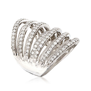 1.90 ct. t.w. Multi-Row Diamond Ring in Sterling Silver, , default