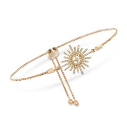 .17 ct. t.w. Diamond Sunburst Bolo Bracelet in 14kt Yellow Gold, , default