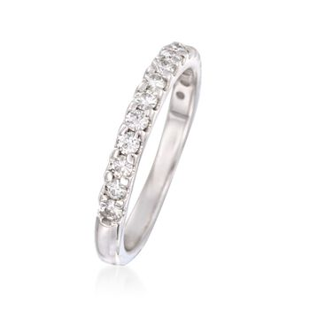 .45 ct. t.w. Synthetic Moissanite Wedding Ring in 14kt White Gold. Size 8, , default