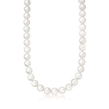 """Mikimoto 6.5-7mm A1 Akoya Pearl Necklace With 18kt White Gold. 18"""", , default"""