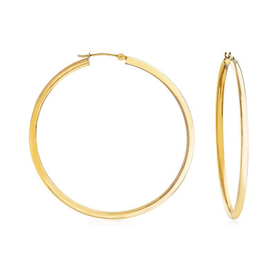 2.5mm 14kt Yellow Gold Hoop Earrings, , default