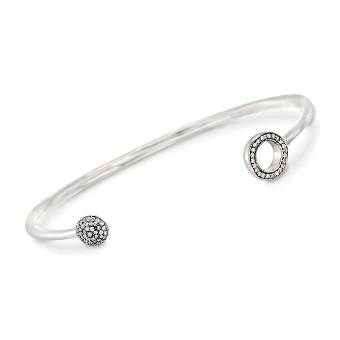 """C. 2013 Ippolita """"Paparazzi"""" .27 ct. t.w. Diamond Open Cuff Bracelet in Sterling Silver. 7"""", , default"""
